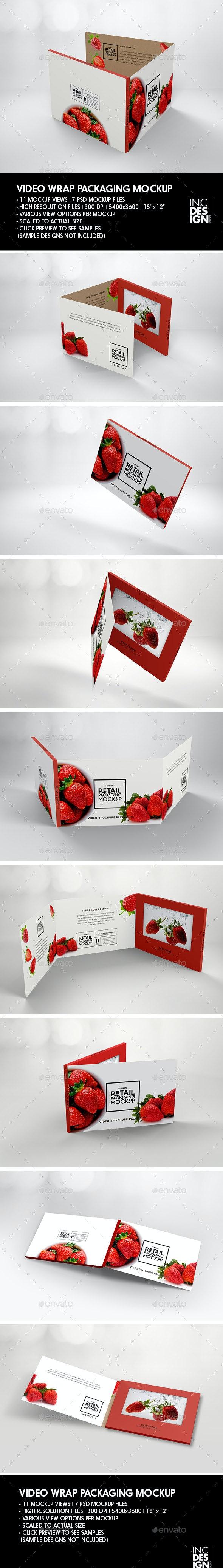 Retail Video Wrap Brochure Packaging Mockup - Packaging Product Mock-Ups