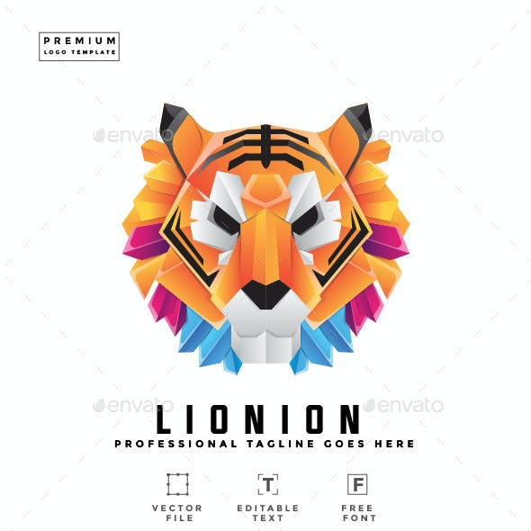 Colorful Lion Logo Template