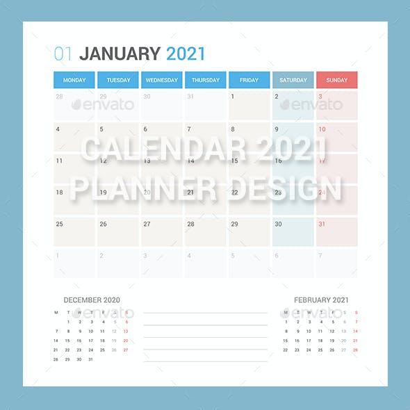 Calendar 2021 Planner Design