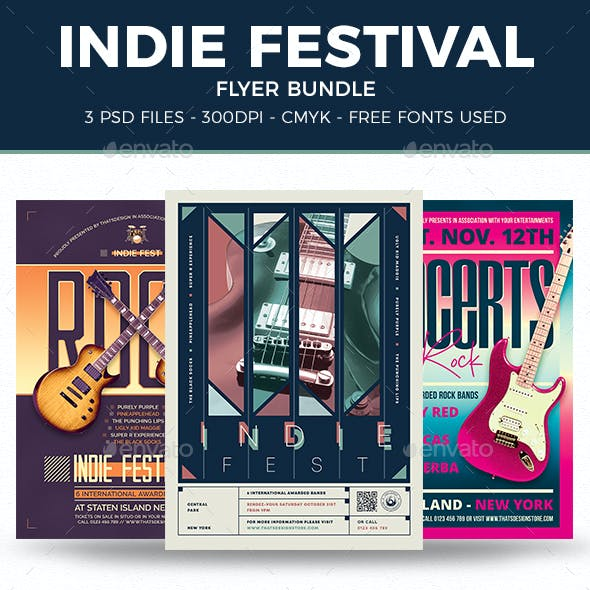 Indie Fest Flyer Bundle