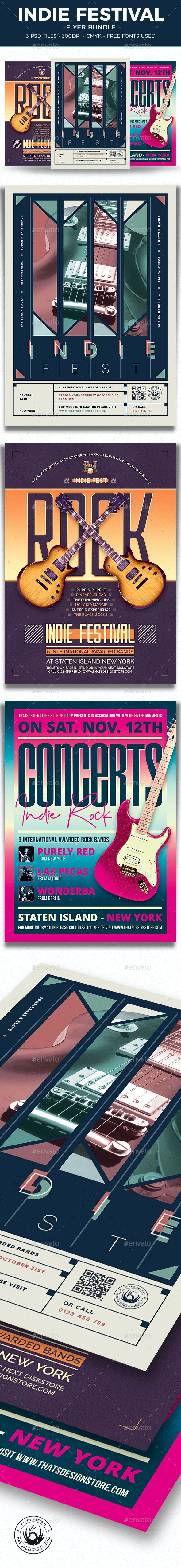 Indie Fest Flyer Bundle - Concerts Events