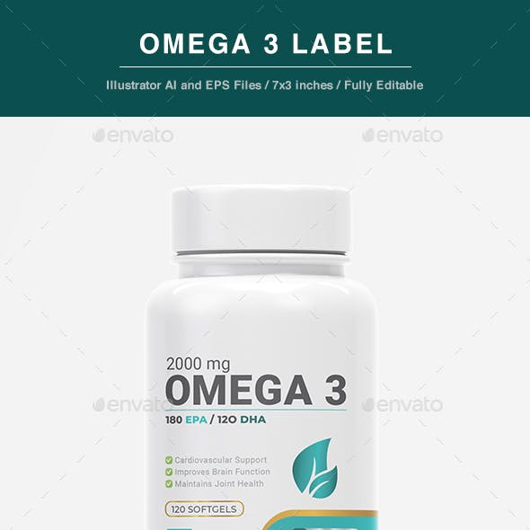 Omega 3 Label Template