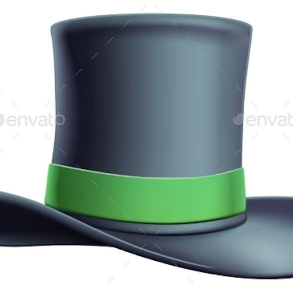 Cylinder Top Hat Illustration Icon
