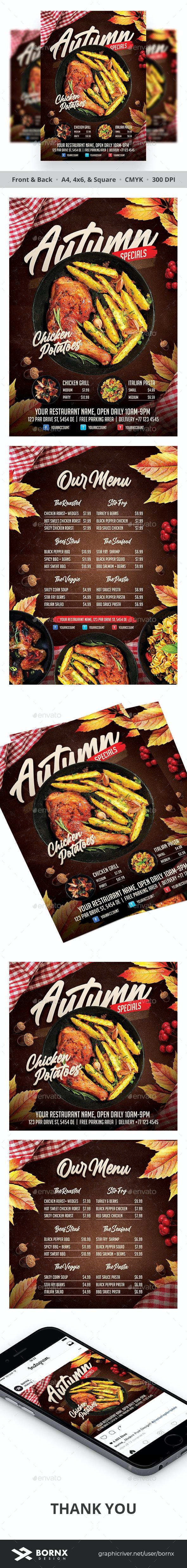 Autumn Menu Flyer - Restaurant Flyers