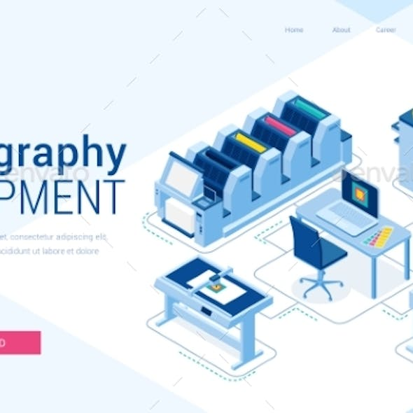 Vector Banner of Polygraphy Equipment
