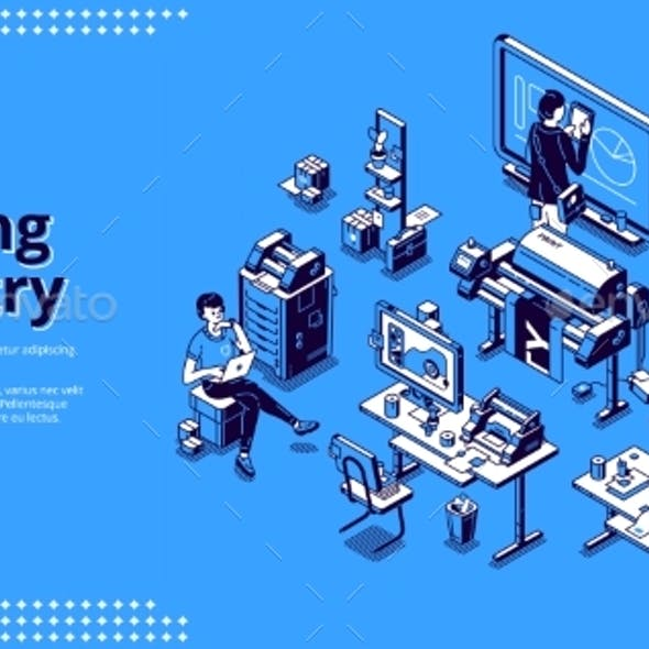 Vector Banner of Printing Industry