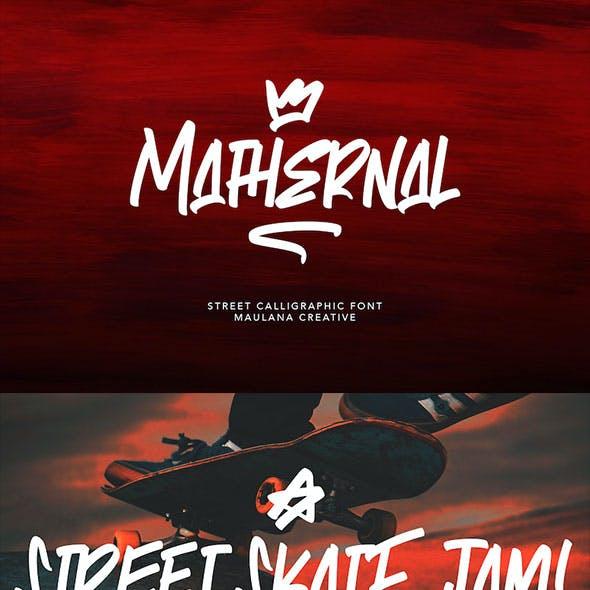Mathernal Street Calligraphic Font
