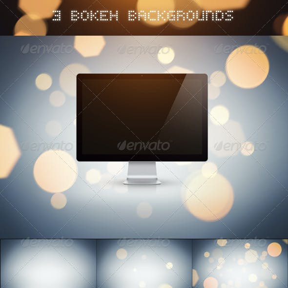 3 Bokeh Backgrounds