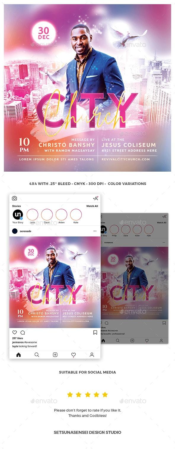 City Church Flyer - Church Flyers