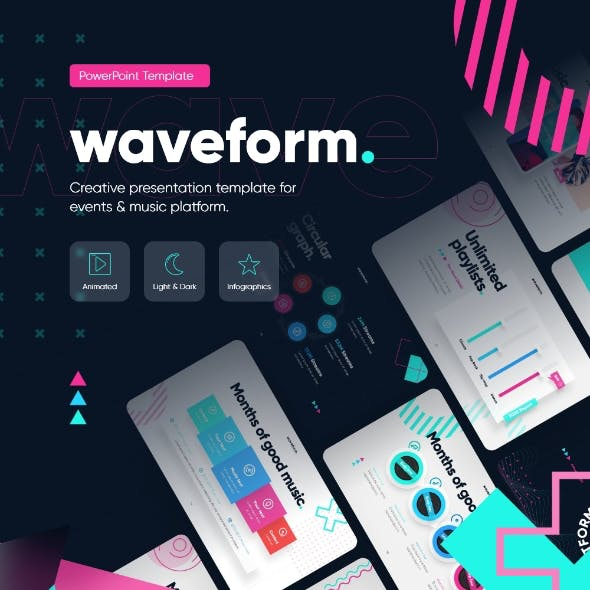 Waveform Music  PowerPoint Presentation Template Template Fully Animated