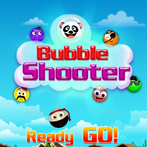Bubble Shooter Unity Asset Reskin: Bubble Shooter