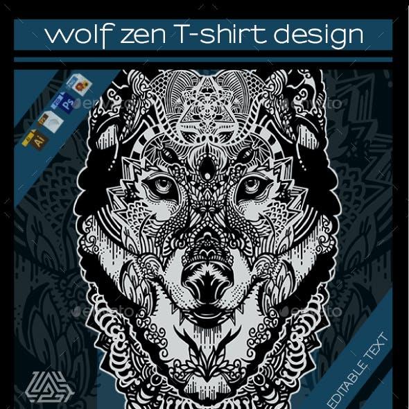 Wolf Zen T-shirt Design