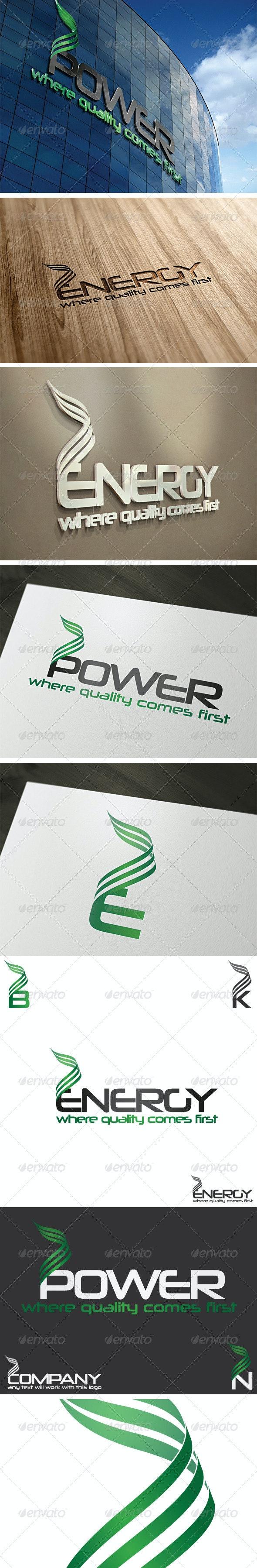 Energy Logo Template - Vector Abstract