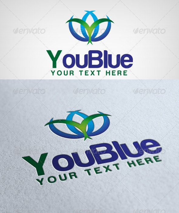 YouBlue Logo - Letters Logo Templates