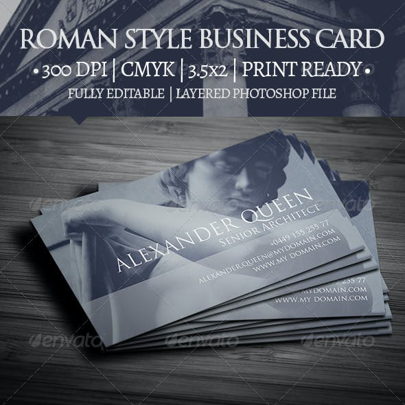 Roman Style Business Card
