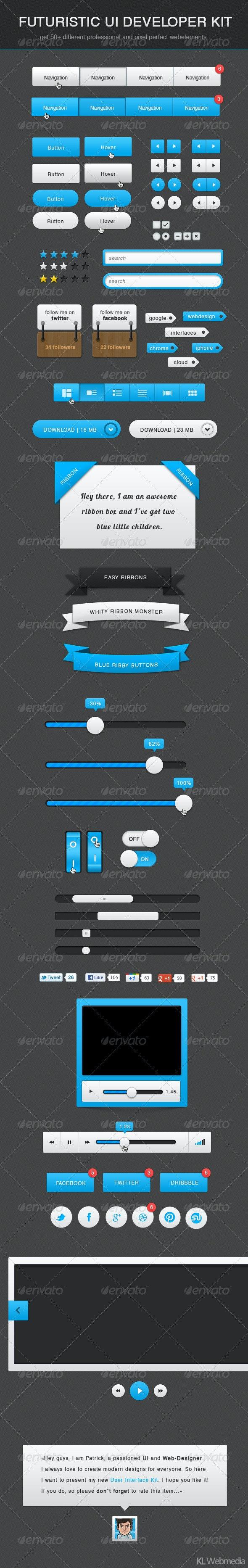 Futuristic Developer UI Kit