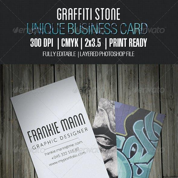 Graffiti Stone Business Card