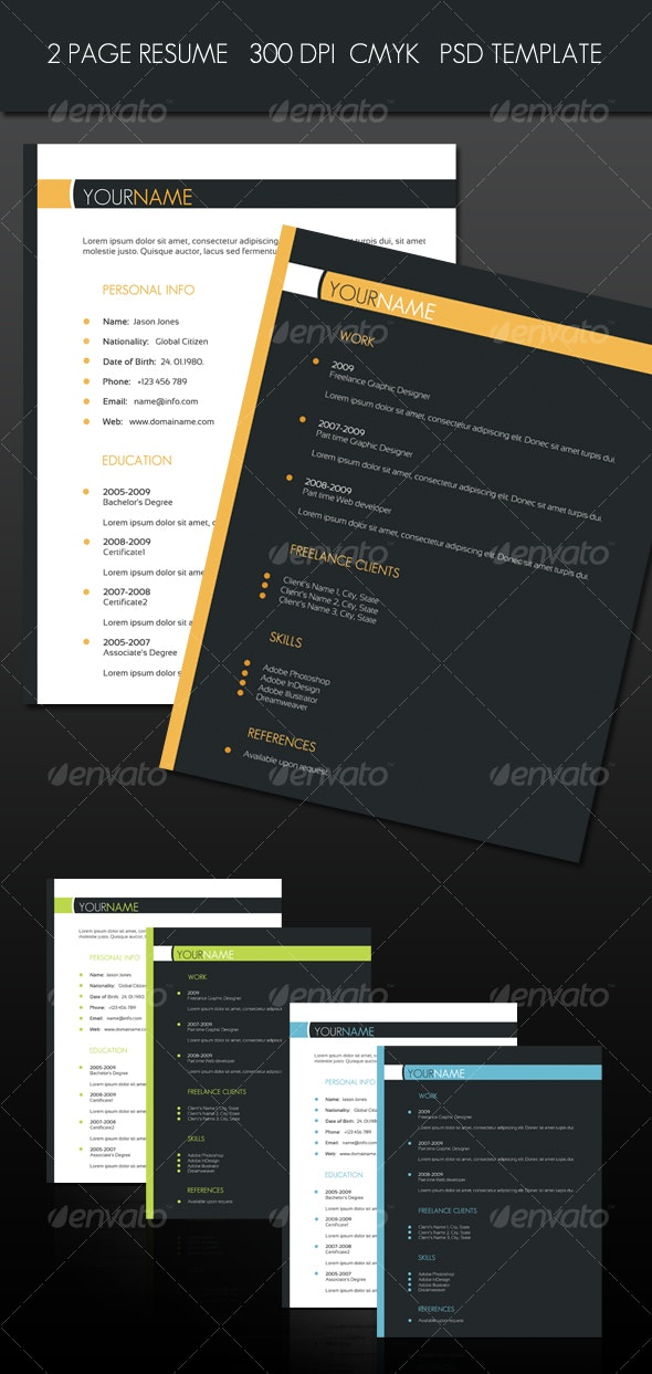 2 Page Resume - Resumes Stationery