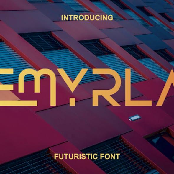 Emyrla Futuristic Font. Elegant Font. Modern Font.