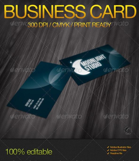 Moonlight Studio Business Card - Corporate Business Cards