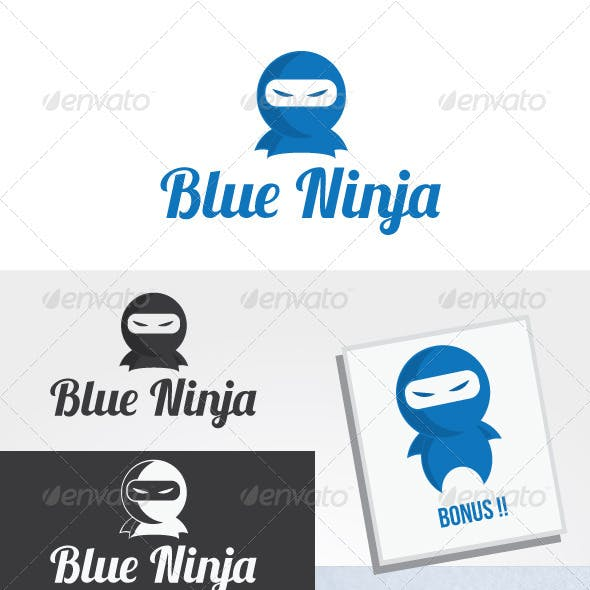Blue Ninja Logo Template