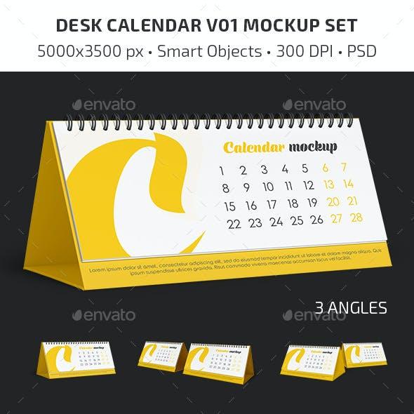 Desk Calendar v01 Mockup Set
