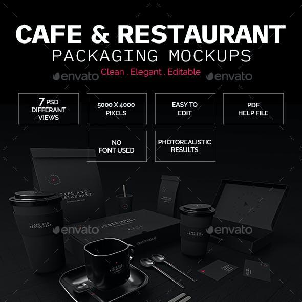 Cafe & Restaurant Packaging Mockups