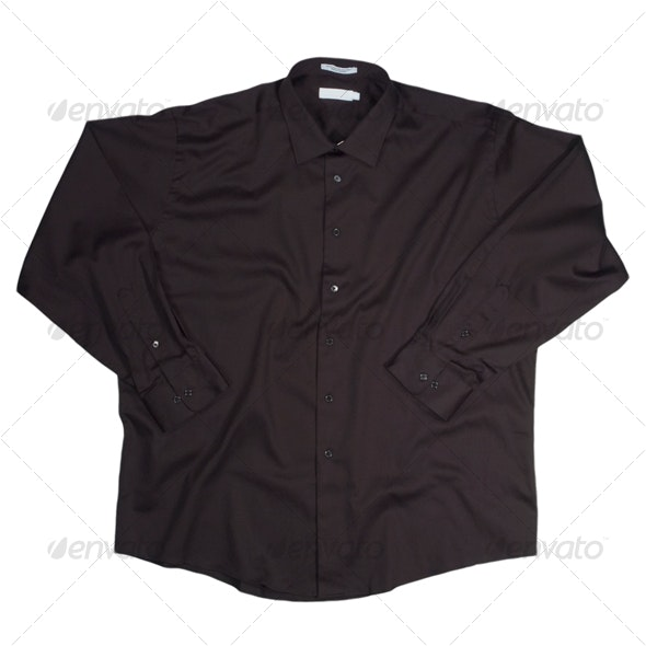 Black Long Sleeve Shirt - Clothes & Accessories Isolated Objects