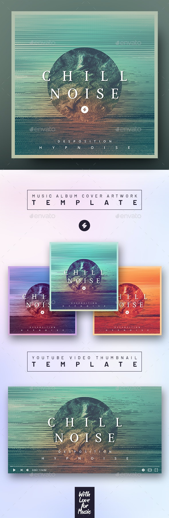 Chill Noise – Music Album Cover Artwork / Youtube Video Thumbnail Template - Miscellaneous Social Media