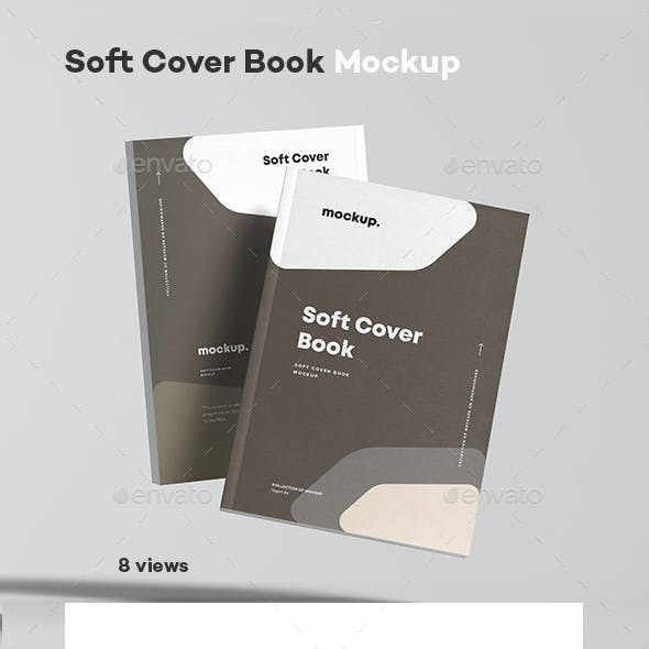 Soft Cover Book Mock-up