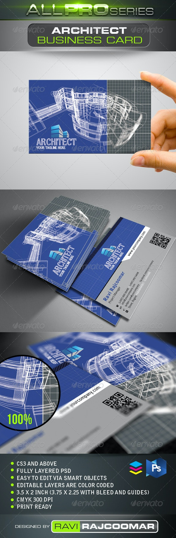 Architect Business Card - Industry Specific Business Cards