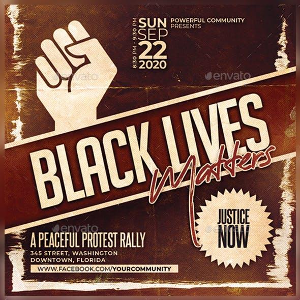 Black Lives Matter Flyer/Poster