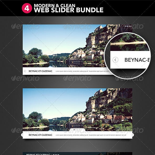 4 Modern and Clean Web Slider