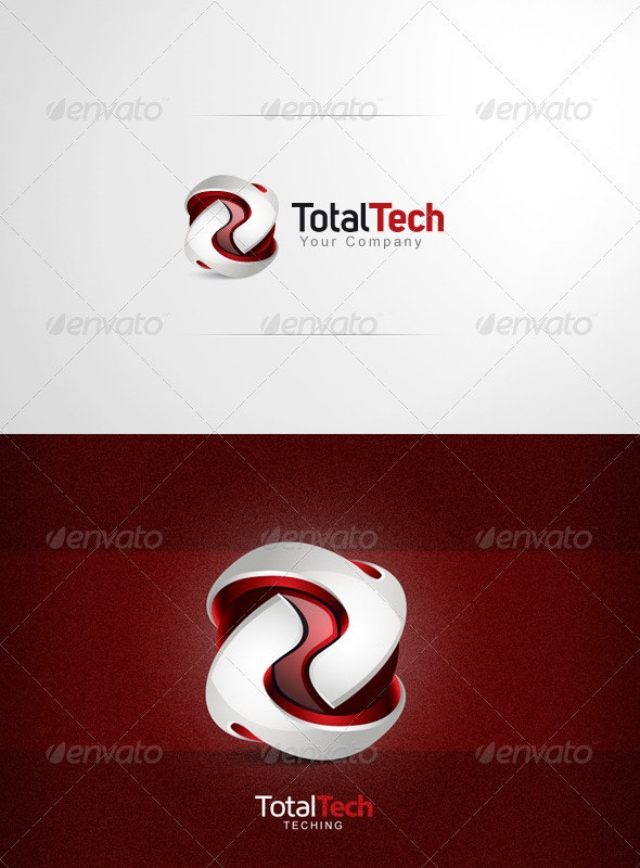 Total Tech - Logo Design - 3d Abstract