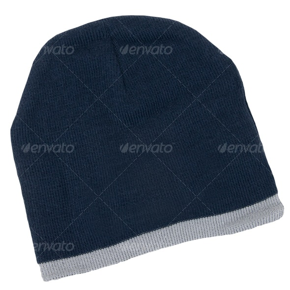 Navy Beanie - Clothes & Accessories Isolated Objects