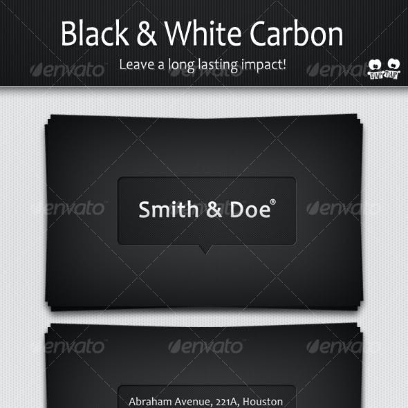 Black and White Carbon business cards
