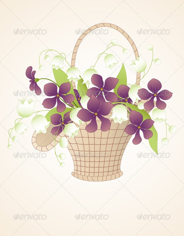 Bouquet of Violets and Lilies of the Valley - Flowers & Plants Nature