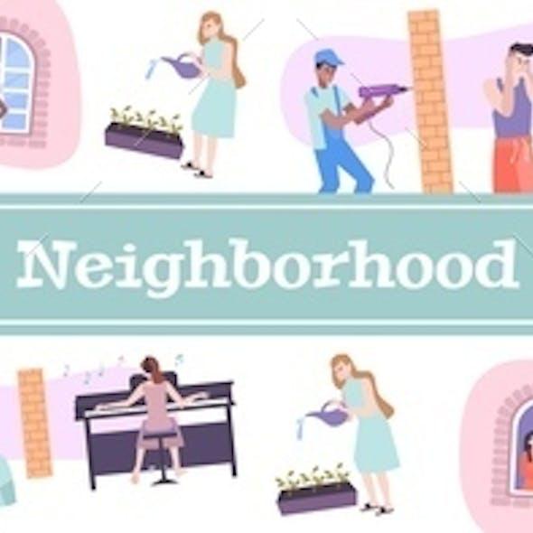 House Neighbors Pattern