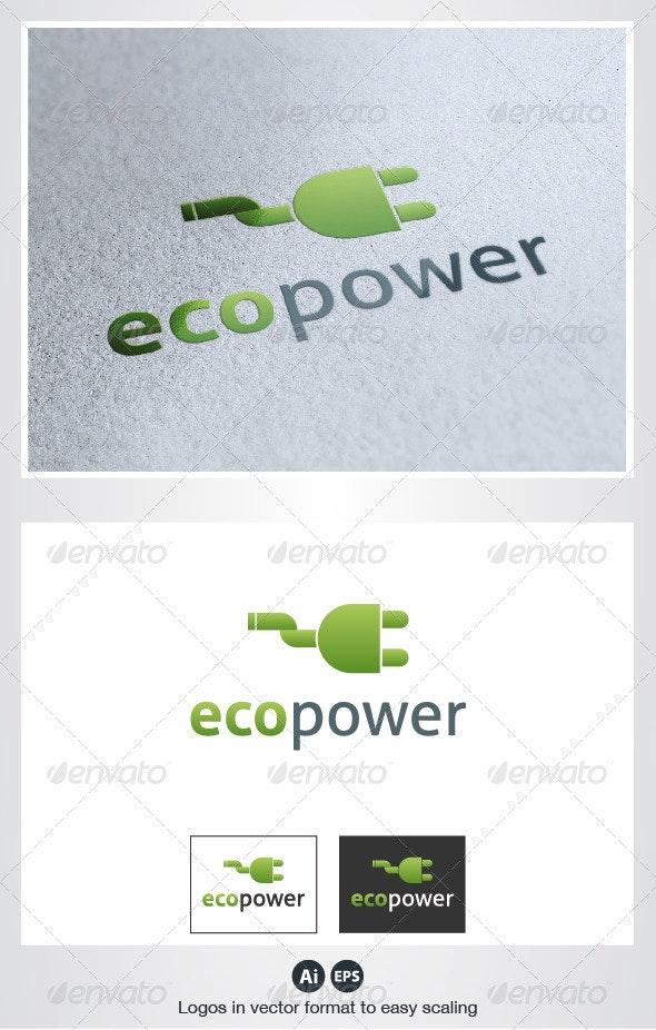Eco Power Logo - Objects Logo Templates