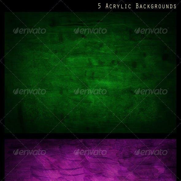 5 Acrylic Backgrounds