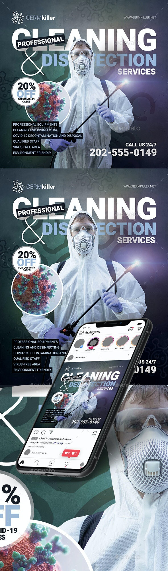 Cleaning and Disinfection Flyer Template - Corporate Flyers