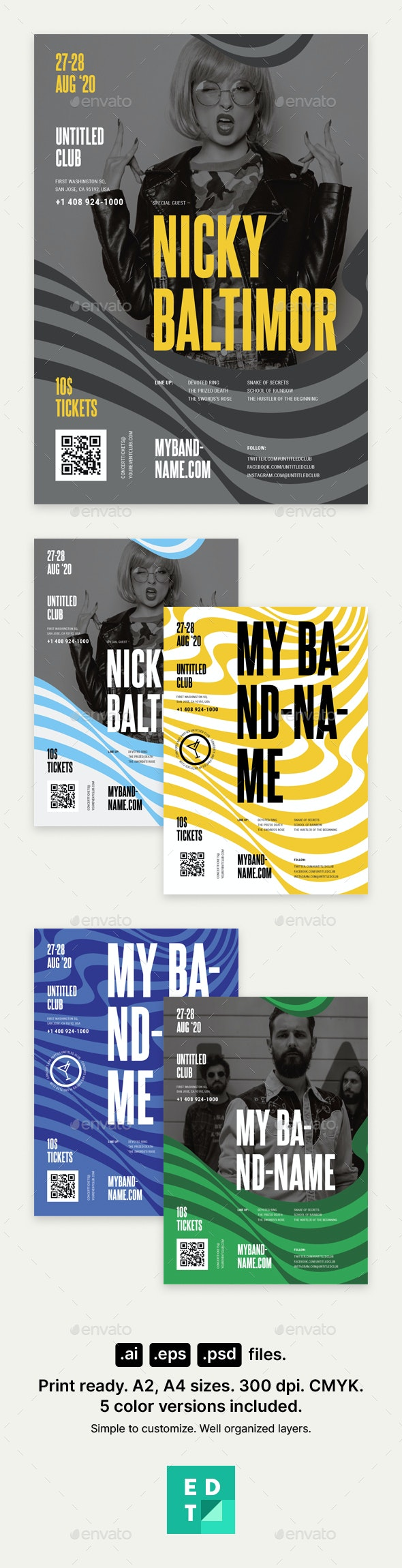 Band Poster Template - Clubs & Parties Events