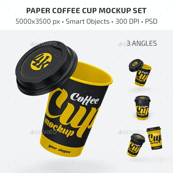 Paper Coffee Cup Mockup Set