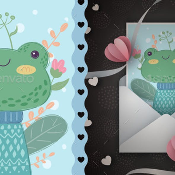 Frog - Idea for Greeting Card