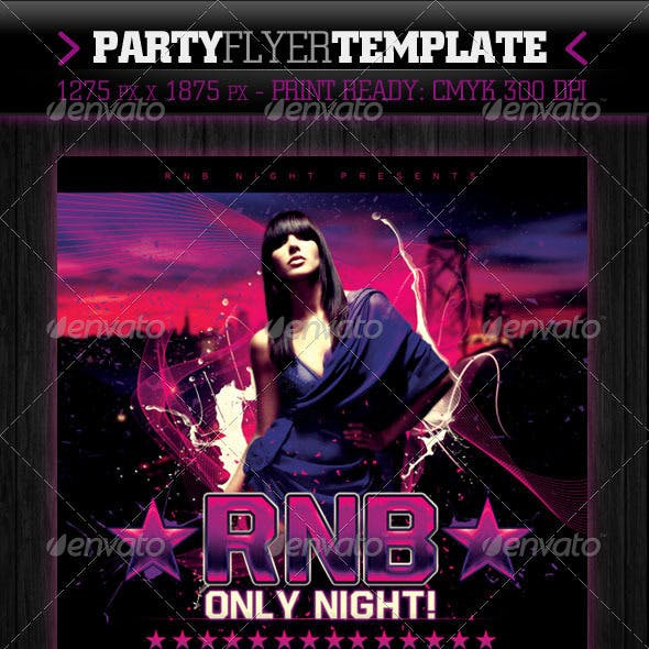RnB Only Night Flyer Template