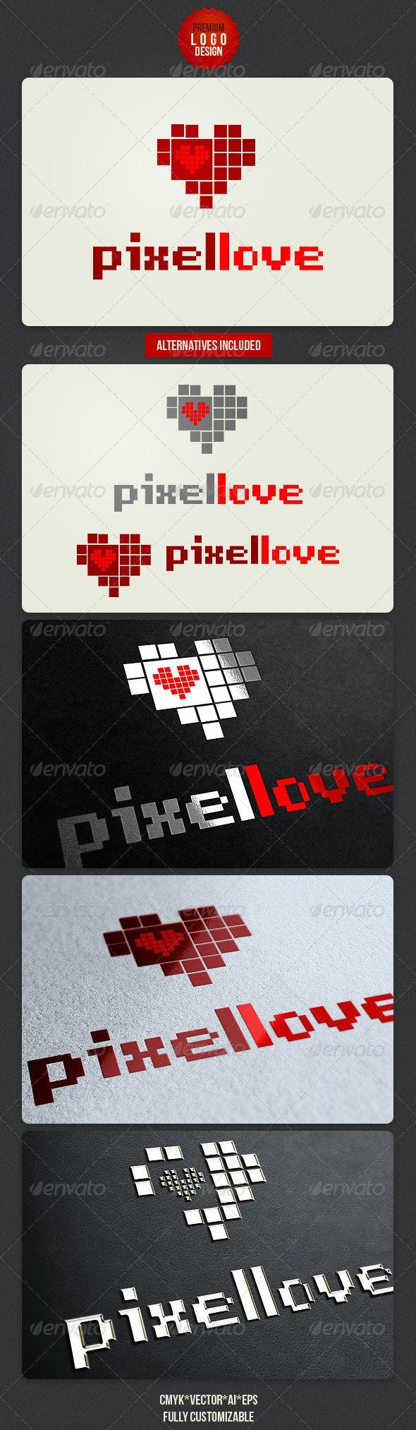 Pixel Love Logo Design - Symbols Logo Templates