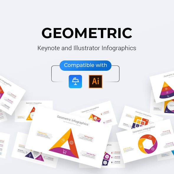 Geometric Infographics Keynote & Illustrator Template