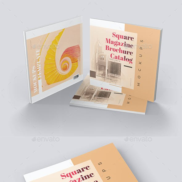Catalog Booklet Mockups Square Format