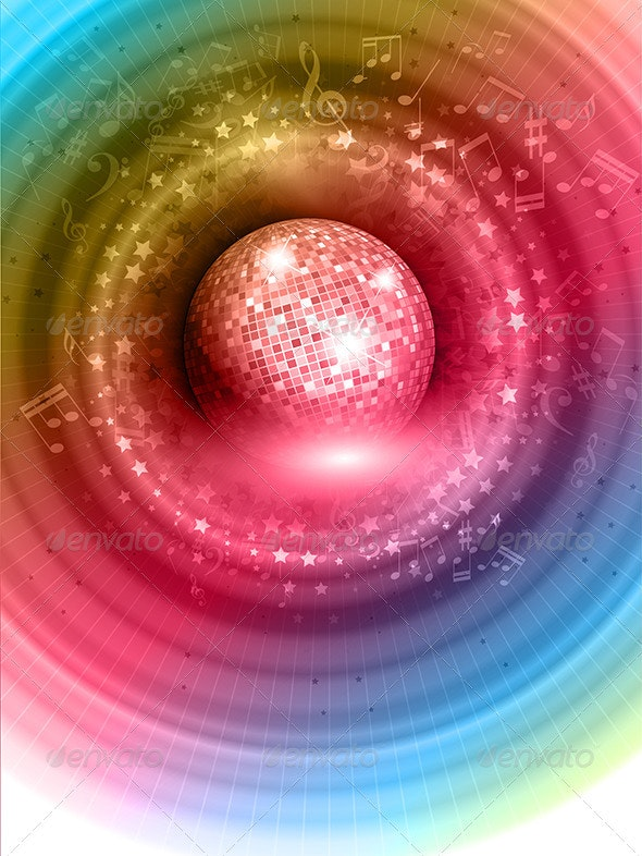 Mirror ball background - Backgrounds Decorative