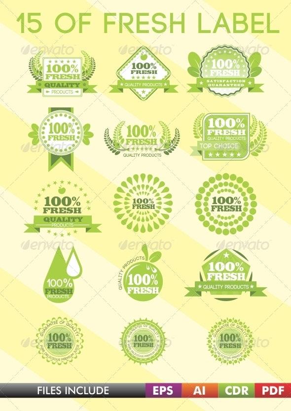 15 Label Fresh Product - Decorative Symbols Decorative